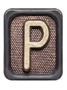 Metal Button Alphabet Letter P by donatas1205