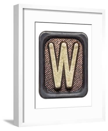 Metal Button Alphabet Letter W
