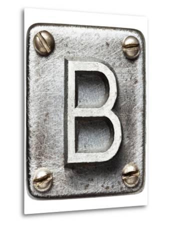 Old Metal Alphabet Letter B