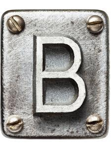 Old Metal Alphabet Letter B by donatas1205