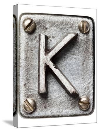 Old Metal Alphabet Letter K
