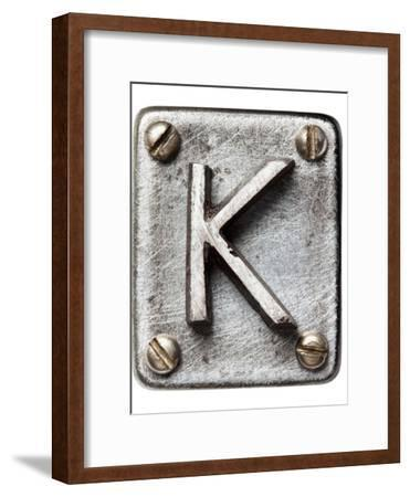 Old Metal Alphabet Letter K