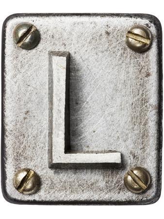 Old Metal Alphabet Letter L