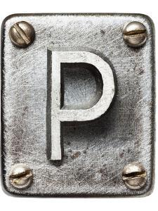 Old Metal Alphabet Letter P by donatas1205