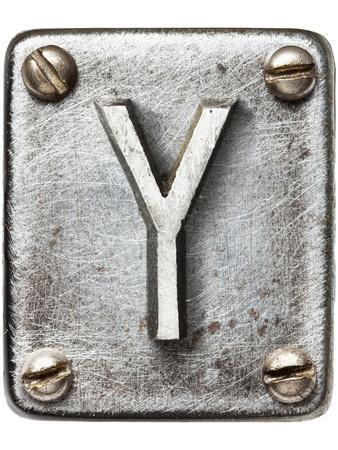 Old Metal Alphabet Letter Y