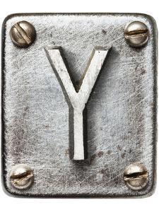 Old Metal Alphabet Letter Y by donatas1205