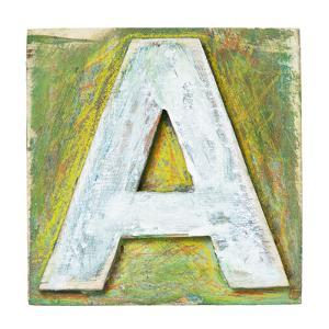 Wooden Alphabet Block, Letter A by donatas1205