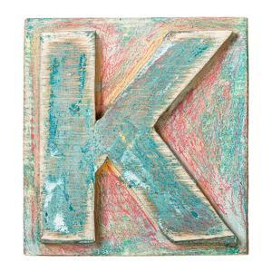 Wooden Alphabet Block, Letter K by donatas1205