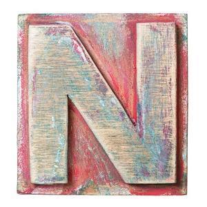 Wooden Alphabet Block, Letter N by donatas1205