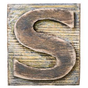 Wooden Alphabet Block, Letter S by donatas1205