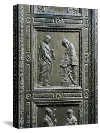 Italy, Florence, Church of San Lorenzo, Old Sacristy, Door with Bronze Relief, 1435-1443