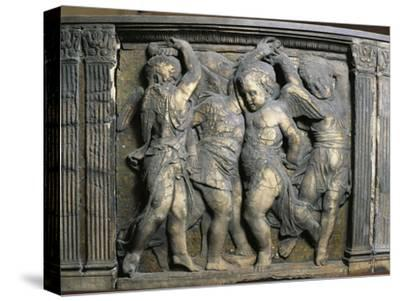 Tile with Dancing Putti