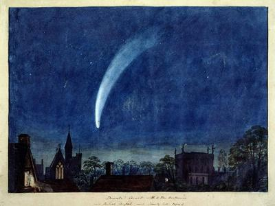 Donati's Comet, 1858 (W/C on Paper)-J^ M^ W^ Turner-Premium Giclee Print