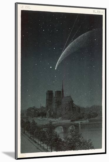 Donati's Comet Observed Over Paris--Mounted Giclee Print