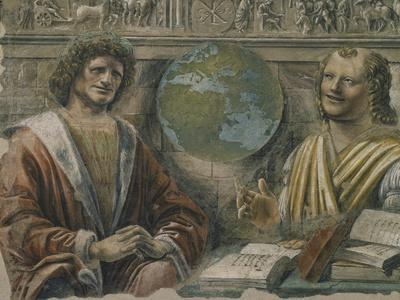 "Heraclitus and Democritus from a Fresco Originally in the ""Sala Dei Baroni"" of Palazzo Panigarola"