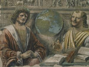 "Heraclitus and Democritus from a Fresco Originally in the ""Sala Dei Baroni"" of Palazzo Panigarola by Donato Bramante"