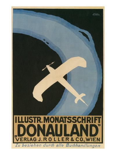 Donauland Magazine Cover, Airplane--Art Print