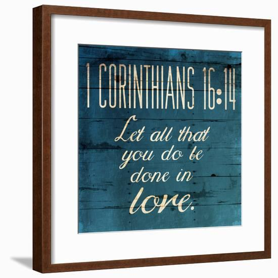 Done In Love Clean-Jace Grey-Framed Art Print