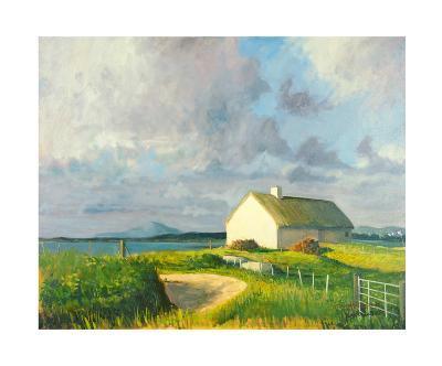 Donegal Cottage-Hugh O'neill-Art Print