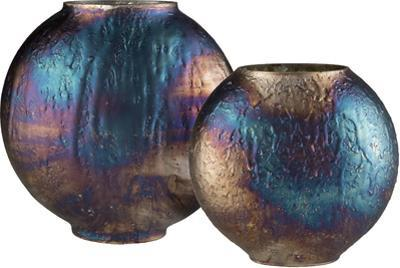Donia Vase Pair - Tempered Bronze