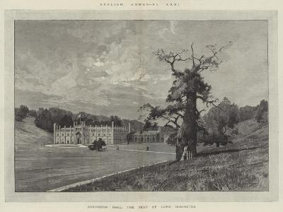 Donington Hall, the Seat of Lord Donington-Charles Auguste Loye-Giclee Print