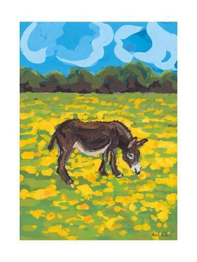 Donkey and Buttercup Field, 2009-Sarah Gillard-Giclee Print