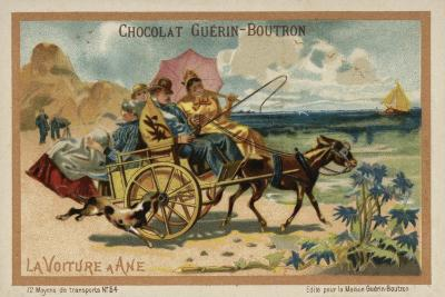 Donkey Cart--Giclee Print