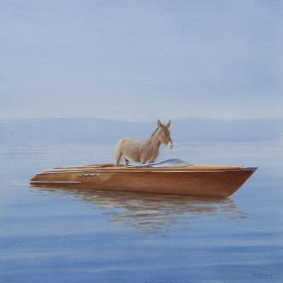 Donkey in a Riva, 2010-Lincoln Seligman-Giclee Print