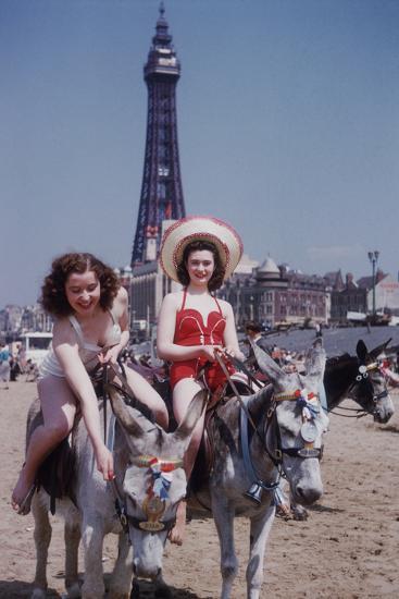 Donkey Rides at Blackpool-John Chillingworth-Photographic Print