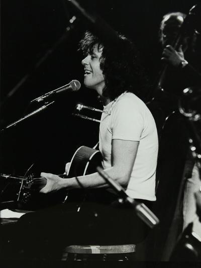 Donovan in Concert at the Forum Theatre, Hatfield, Hertfordshire, 10 October 1981-Denis Williams-Photographic Print