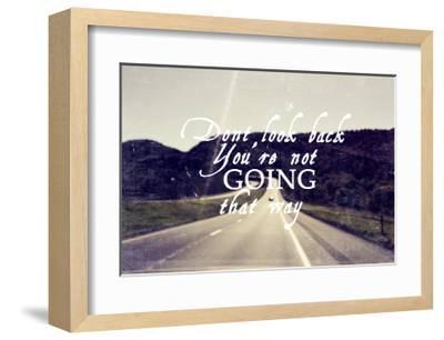 Dont Look Back-Vintage Skies-Framed Art Print