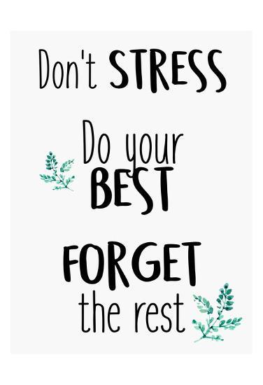 Dont Stress-Kimberly Allen-Art Print