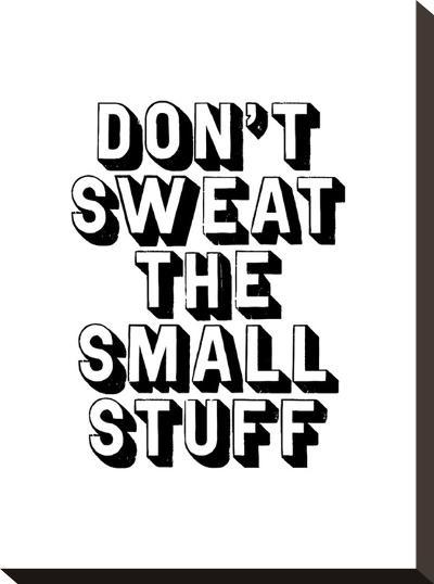 Dont Sweat the Small Stuff-Brett Wilson-Stretched Canvas Print