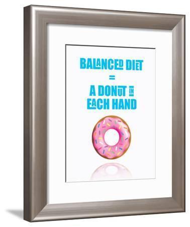 Donut Diet-Indigo Sage Design-Framed Art Print