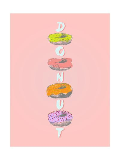 Donuts in Various Glaze Poster-ONiONAstudio-Art Print