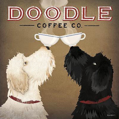 Doodle Coffee Double IV-Ryan Fowler-Art Print