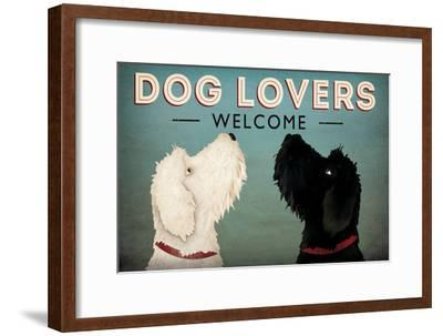 Doodle Dog Lovers Welcome-Ryan Fowler-Framed Art Print