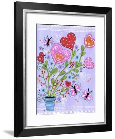 Doodle Heart Flowers-Jennifer Nilsson-Framed Giclee Print