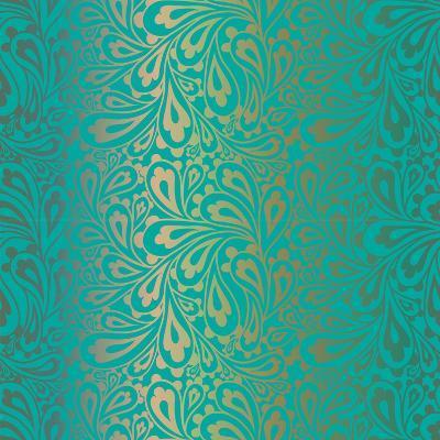 Doodle Paisley Seamless Pattern.-Fears-Art Print