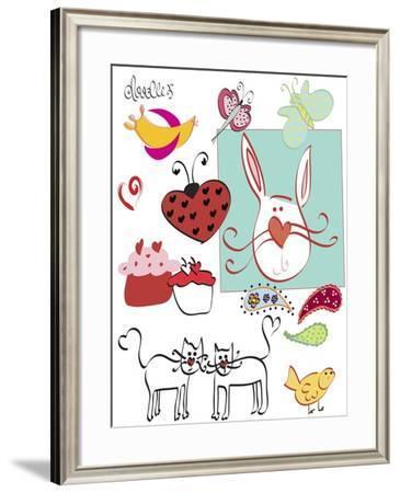 Doodlez-Leslie Wing-Framed Giclee Print