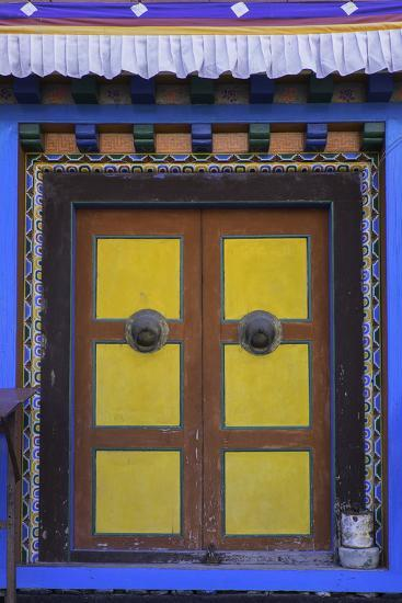 Door at the Buddhist Monastery in Tengboche in the Khumbu Region of Nepal, Asia-John Woodworth-Photographic Print