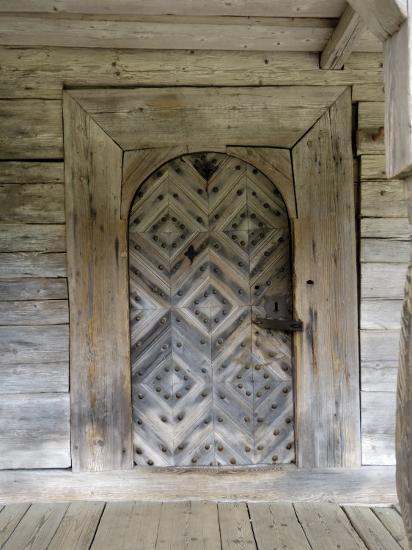 Door Detail, Latvian Open Air Ethnographic Museum, Latvia-Gary Cook-Photographic Print