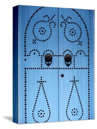 Door in Houmt Souk, Jerba Island, Tunisia, North Africa, Africa-Godong-Stretched Canvas Print