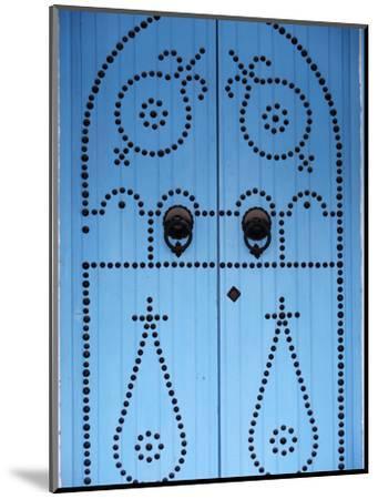 Door in Houmt Souk, Jerba Island, Tunisia, North Africa, Africa-Godong-Mounted Photographic Print