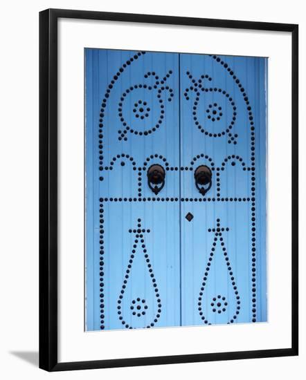 Door in Houmt Souk, Jerba Island, Tunisia, North Africa, Africa-Godong-Framed Photographic Print
