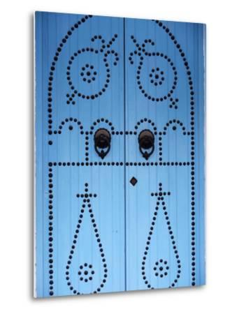 Door in Houmt Souk, Jerba Island, Tunisia, North Africa, Africa-Godong-Metal Print