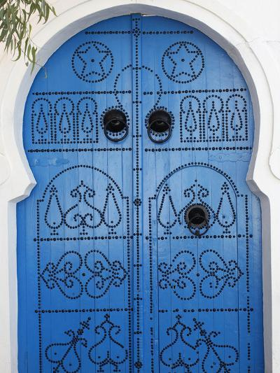 Door in Sidi Bou Said, Tunisia, North Africa, Africa-Godong-Photographic Print