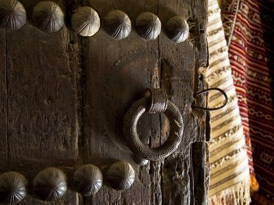 Door in the Old City of Fes, Morocco-Julian Love-Photographic Print