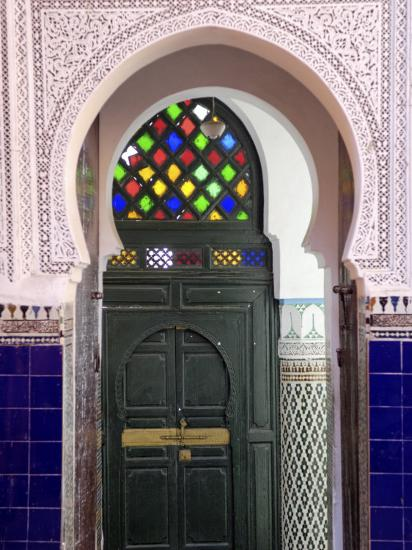 Door in the Souks in the Medina, Marrakesh, Morroco, North Africa, Africa-De Mann Jean-Pierre-Photographic Print