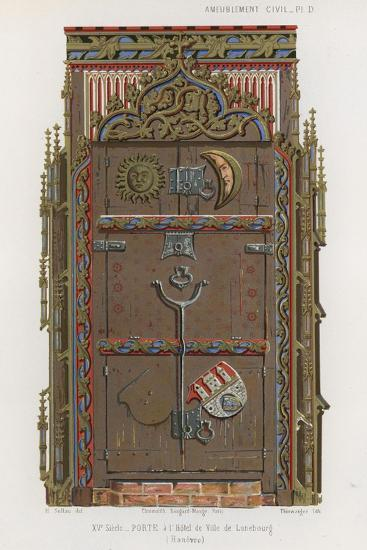 Door in the Town Hall of the Luneburg--Giclee Print